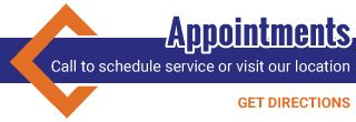 Appointments | Call to schedule service or visit our location | Get Directions